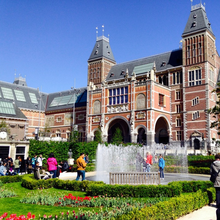 The beautiful Rijksmuseum in Museumplein