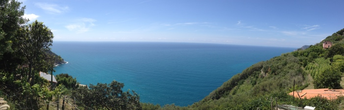 View looking towards Vernazza.
