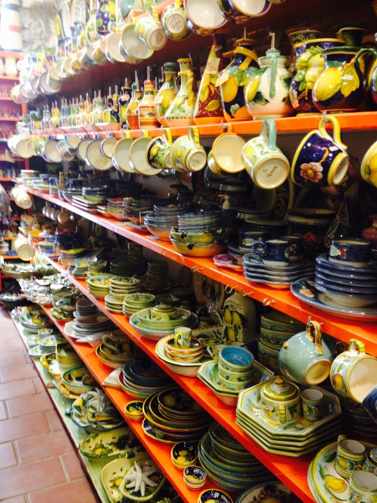 Shops filled with locally crafted souvenirs were everywhere in each village.