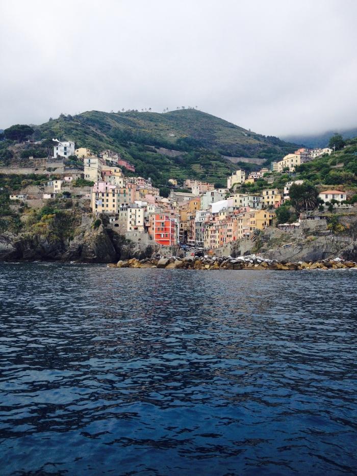 Riomaggiore from the boat
