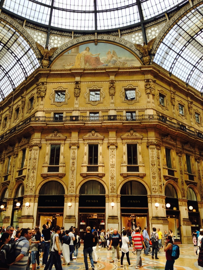 Inside the Galleria Vittorio Emanuele III