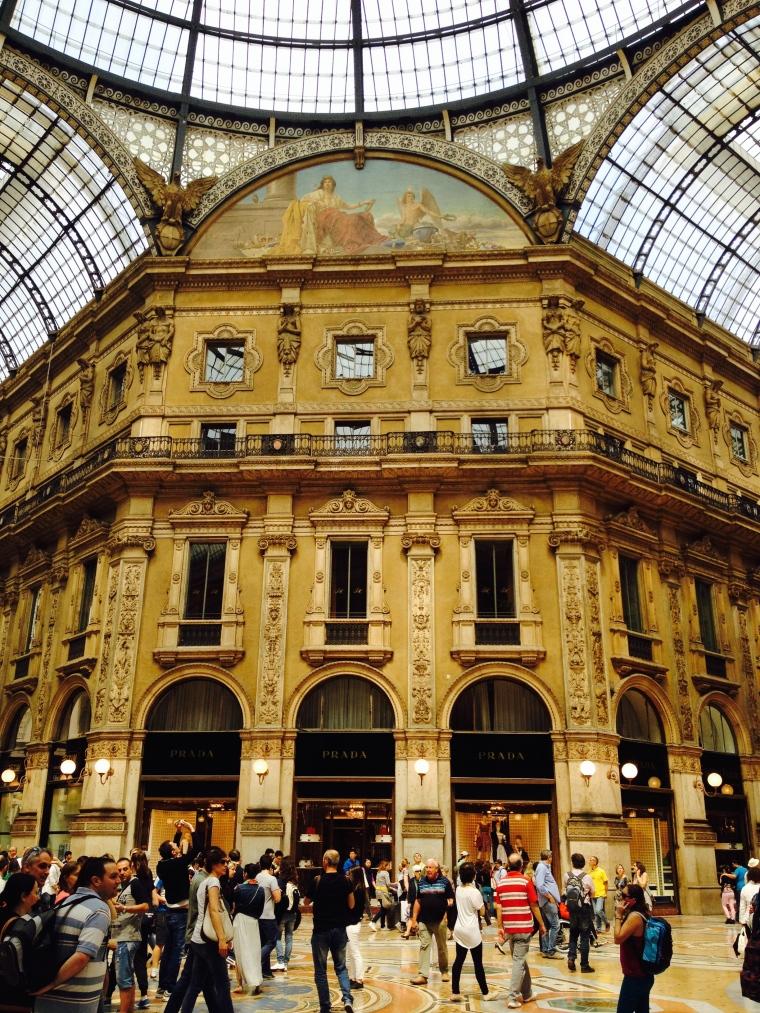 Inside the Galleria Vittorio Emanuele III