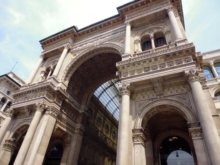 Entrance of the Galleria Vittoria Emanuele III - worlds oldest shopping centre.