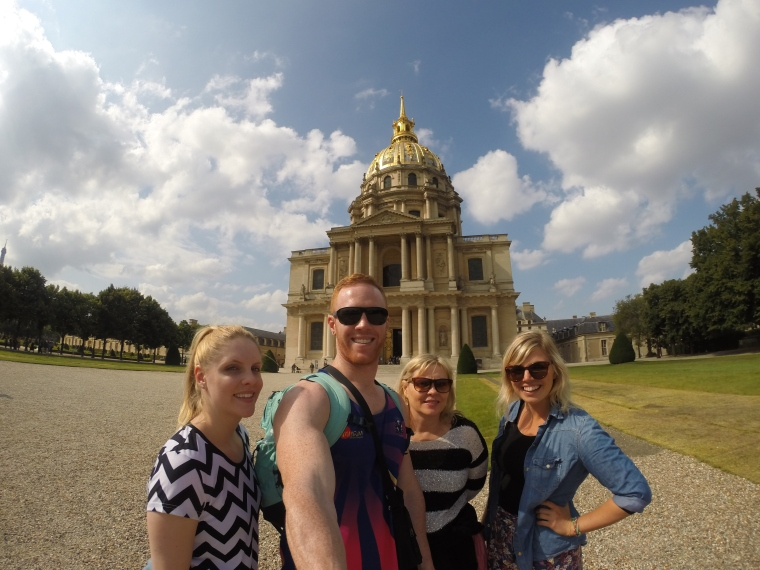GoPro selfies with Napolean's Tomb.