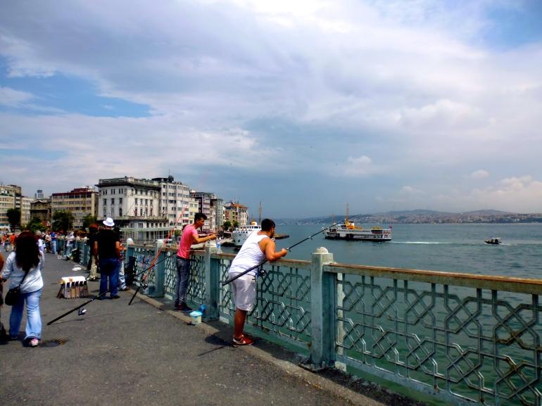 Daily activity on the Galata Bridge