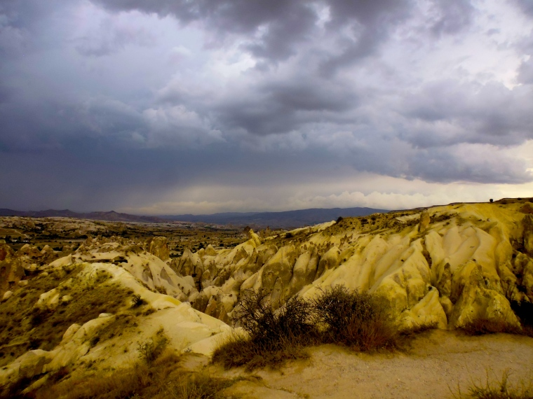 Storm clouds approaching Göreme