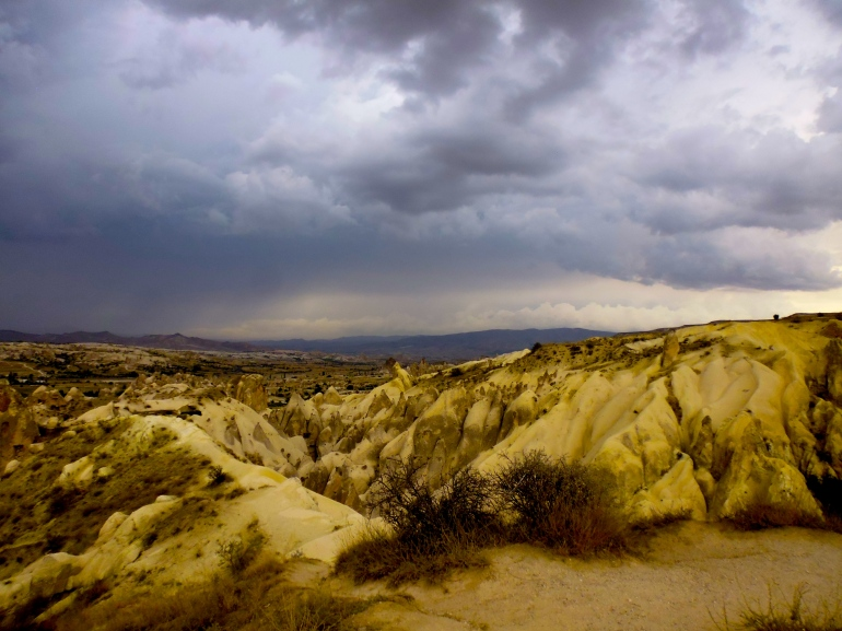 Storm clouds approaching Göreme