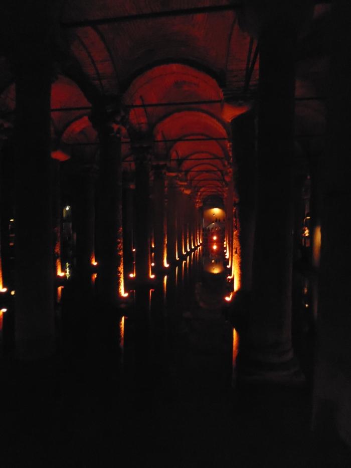 Inside the Basilica Cistern.
