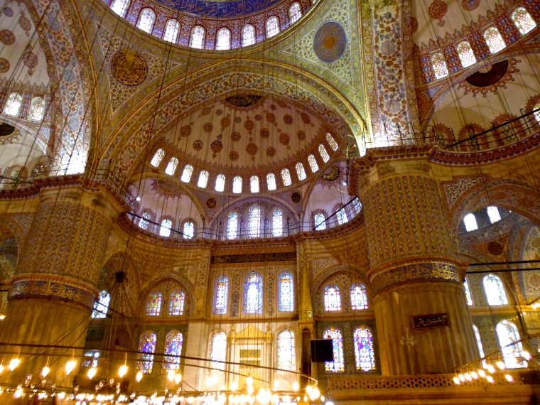 Dome shaped roof and blue tiles are what keeps the Blue Mosque ahead of the pack