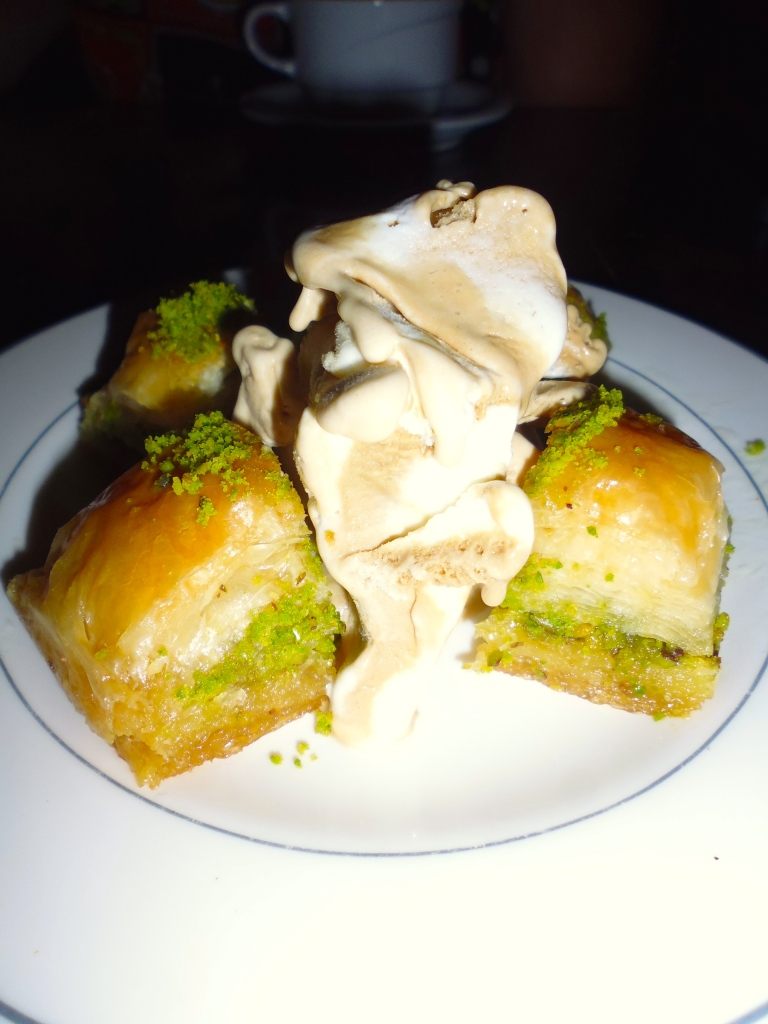 Best dessert ever! Baklava and caramel ice-cream :)