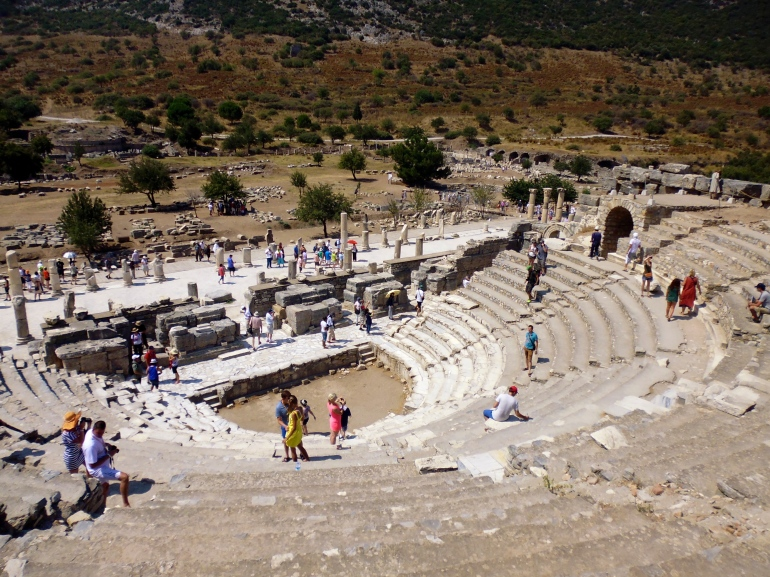 Odeion, the indoor theatre that seats 1500 people