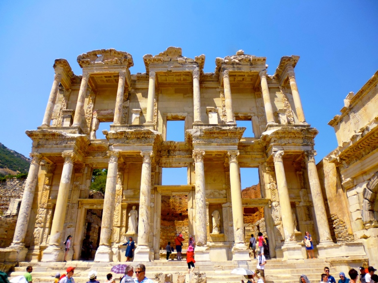 The beautiful Library of Celsus