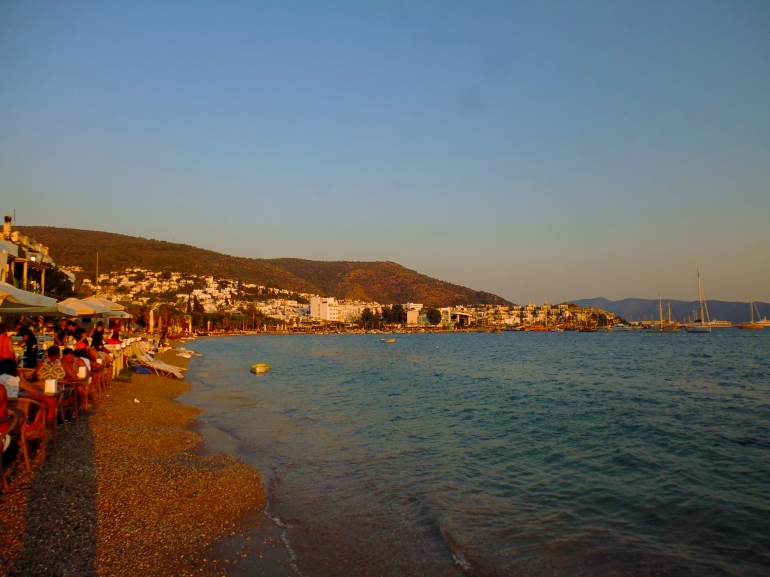 Sunsets over Bodrum Beach