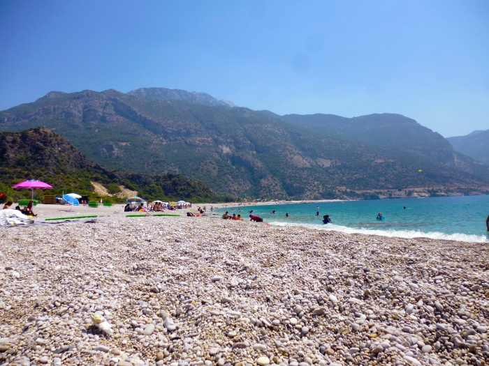 From where I sat, between the Blue Lagoon and Ölüdeniz.
