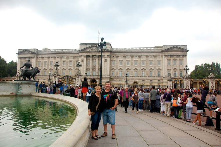 M and D at Buckingham Palace