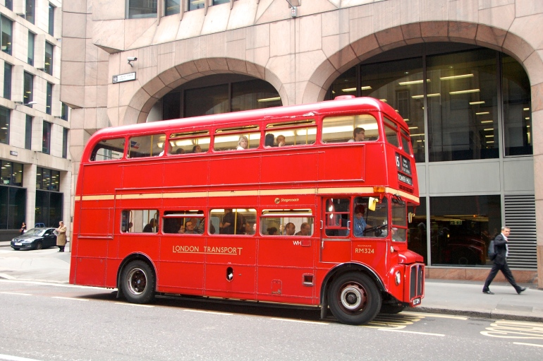 The good old London double decker bus