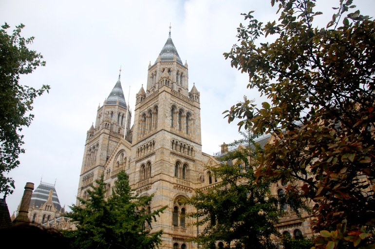 The beautiful exterior of the Natural History Museum.