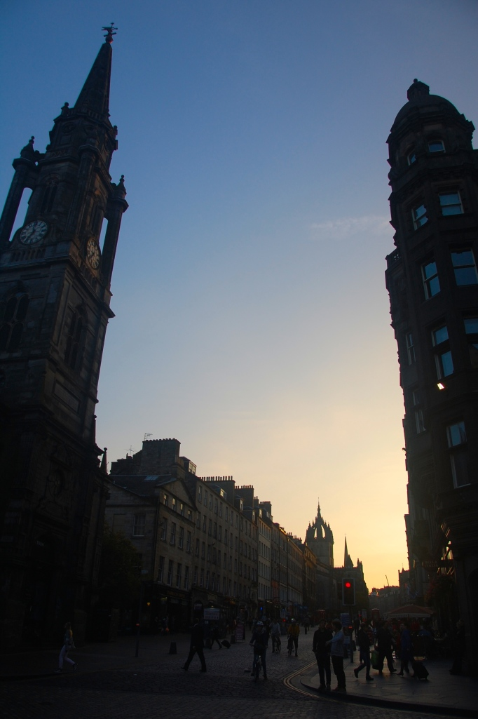 Edinburgh at sunset..