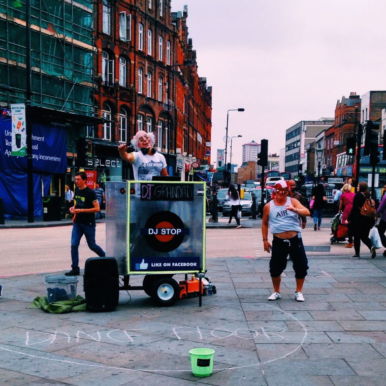 DJ Grandad killin it on the streets of Camden