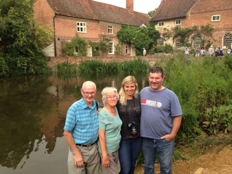 Mert, Brenda, Dad and myself at Flatford