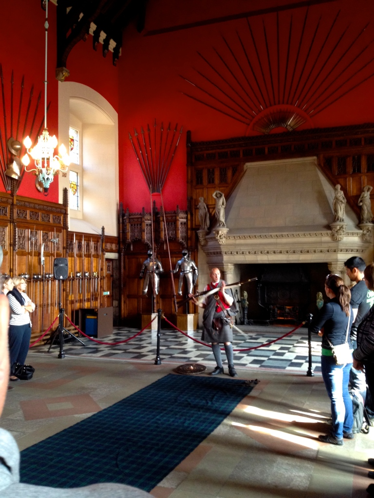 Learning Scottish history in the Great Hall