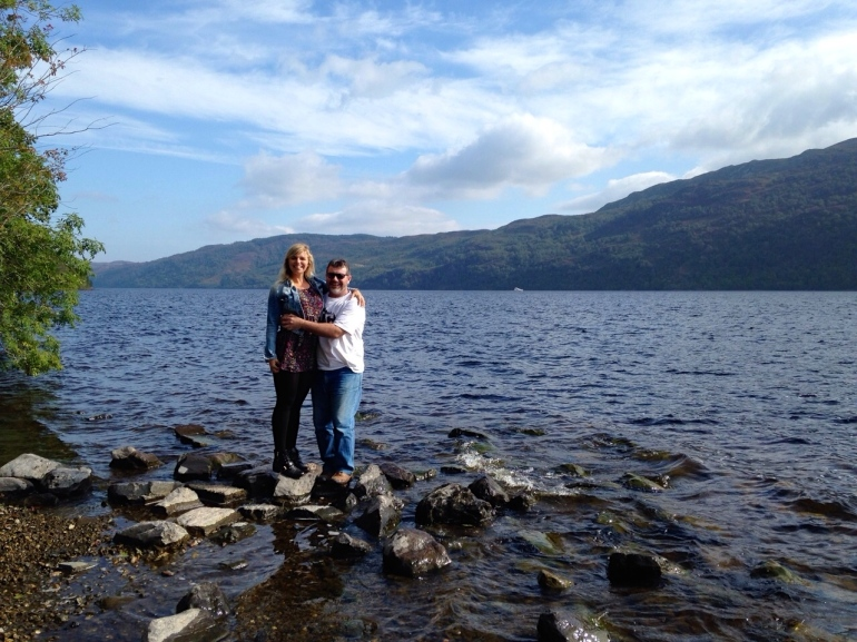Dad and I tempting Nessie..