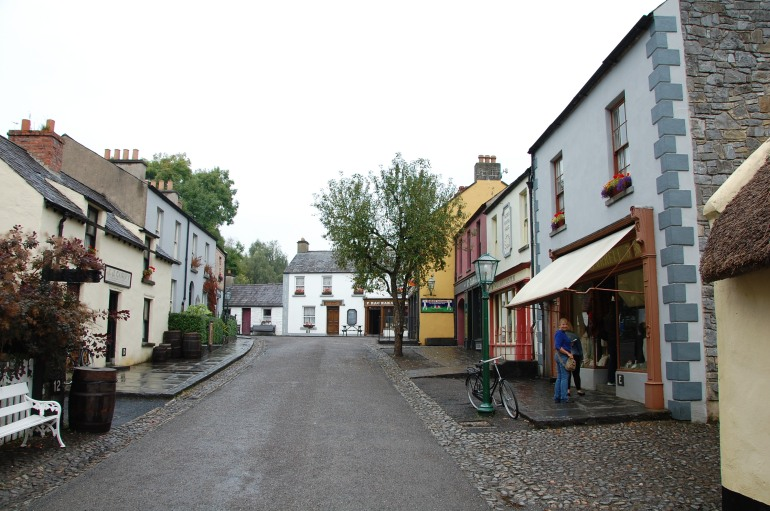 The quaint historic streets of Bunratty village