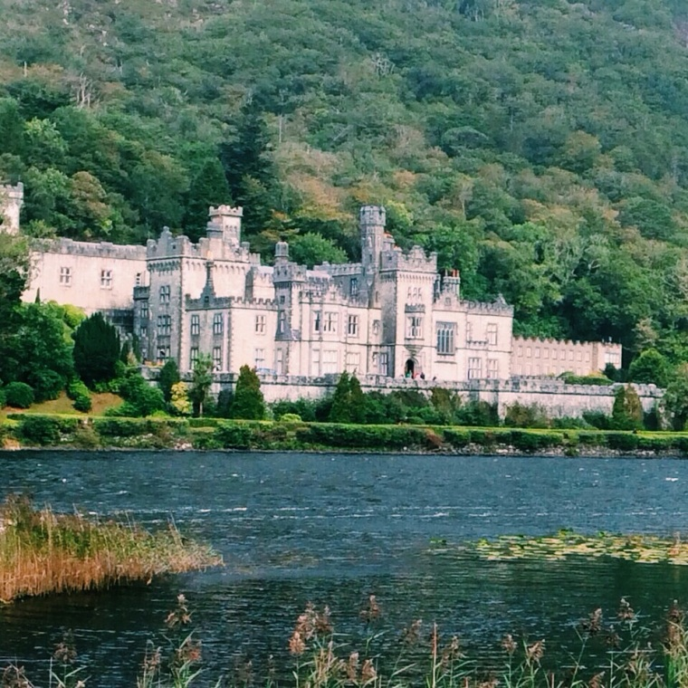 Kylemore Abbey from the official entrance. Such a wonderful building!