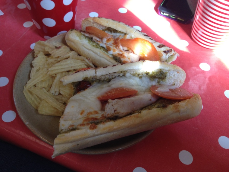 Go health! Lunch in County Clare. P.s - it was delicious!
