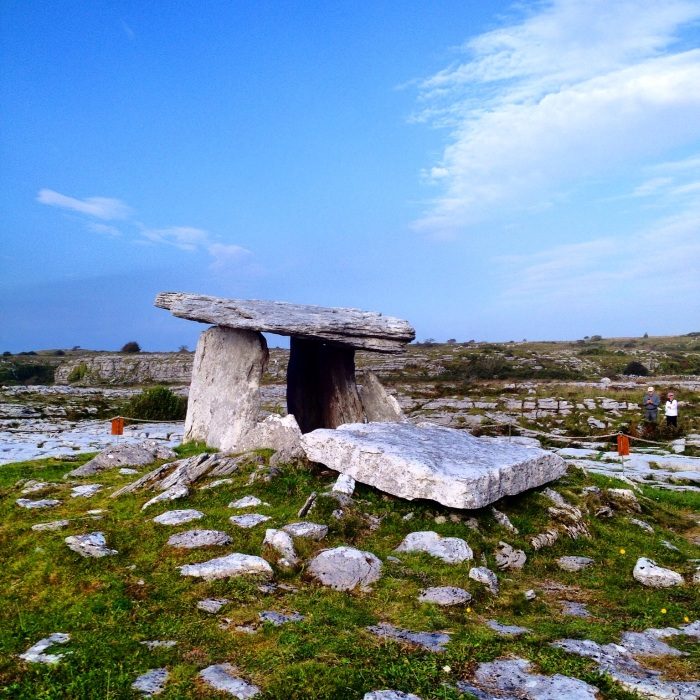 Poulnabrone dolmen - excavations have discovered that around 20 adults and six children were buried in this portal tomb.