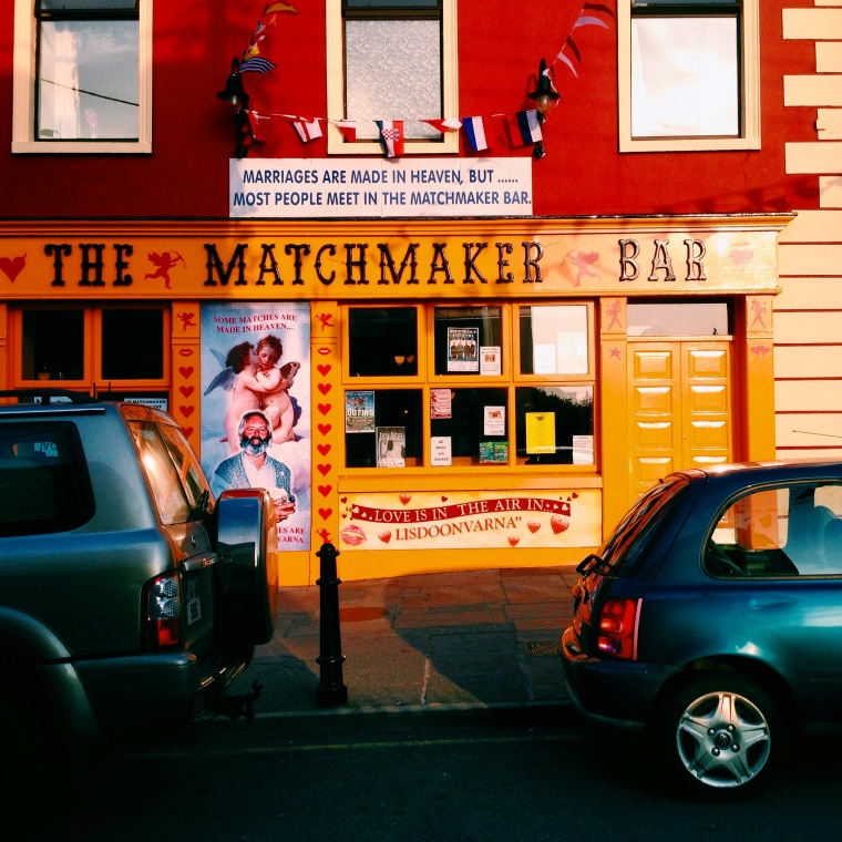 The Matchmaker Bar, where we unknowingly sat by the front window of for over an hour.