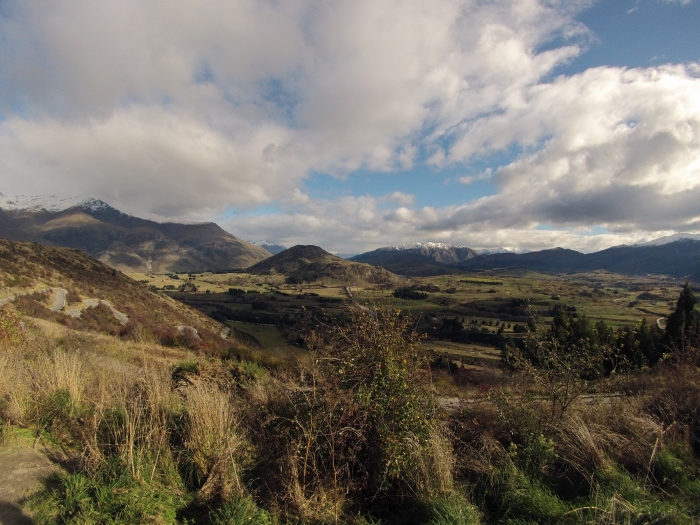 Driving out of Arrowtown towards Cadrona and Wanaka