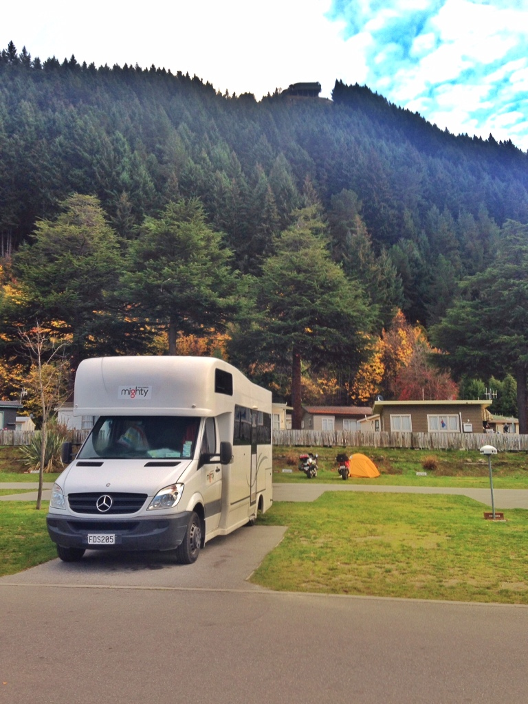 Mimi at Lakeview Caravan Park, Queenstown. Isn't she pretty!