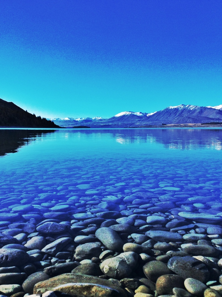 The clear waters of Lake Tekapo.