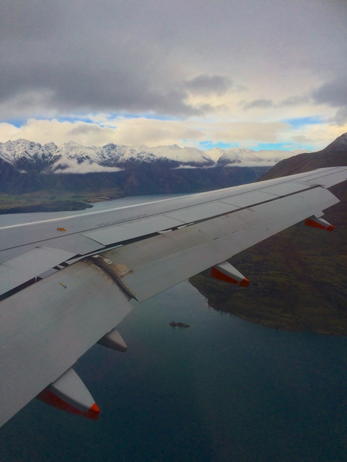 Exhibit B - Flying into Queenstown. Bit of a difference