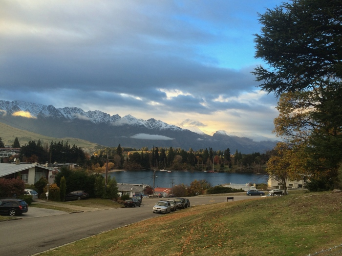 The view from our park at Lakeview Caravan Park. Right near the Skyline gondola!