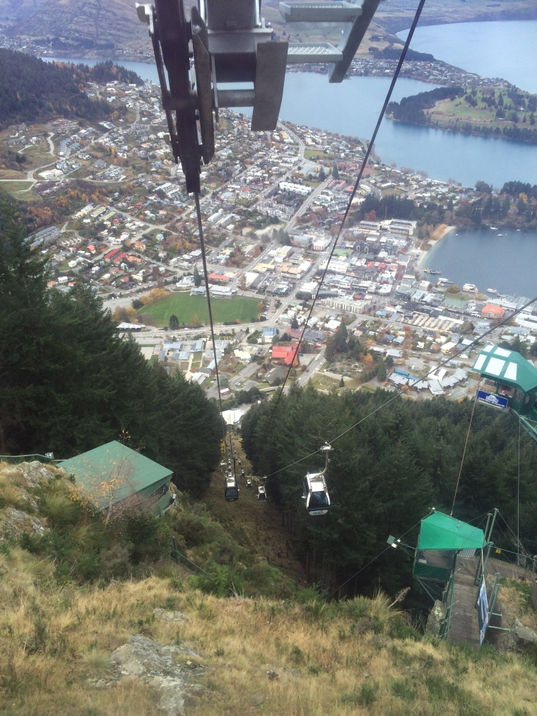 The gondola ride back down to Queenstown.