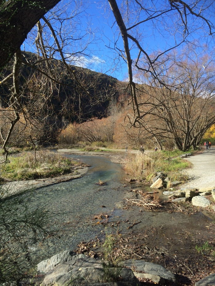 The stream running parallel to Arrowtown
