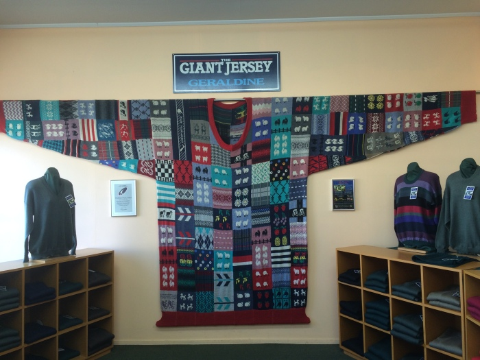 The Worlds Largest Knitted Jersey - not going to lie, I was expected a very big Jersey cow, not a sweater! Still impressed!