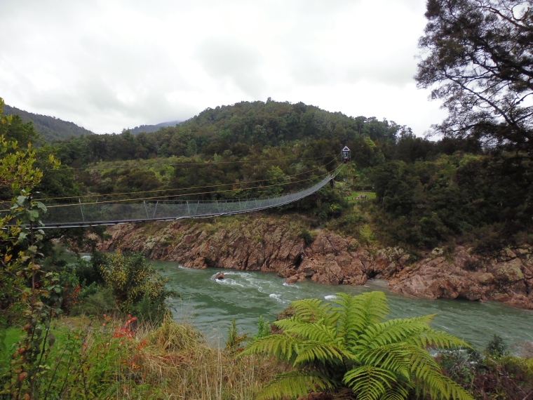 The beautiful Buller Gorge and swing bridge, just outside Murchinson.