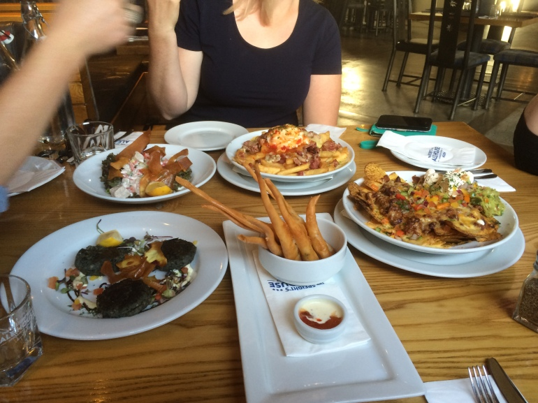 Part of our feast at Speight's Ale House in Nelson. So, so good!